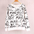 2017 Мода Марка Осень Женщины Письма Печатаются толстовка капюшоном толстовки спортивные костюмы пуловеры спортивный костюм топы outerwears размер