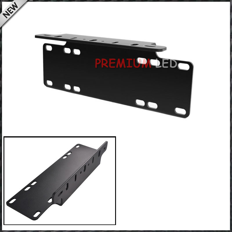 1pc Heavy Duty Front Bumper License Plate Mount Bracket Holder For LED Light Bar, LED Work Lights, Off-Road LED Lights, etc