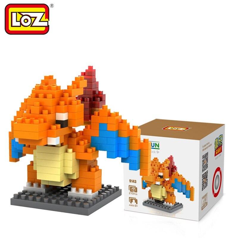 Blocks Loz Single Sale Mini Charizard Cartoon Doll Diamond Bricks Pocket Monster Dragon Building Blocks Toys For Children 9143 Latest Technology Model Building