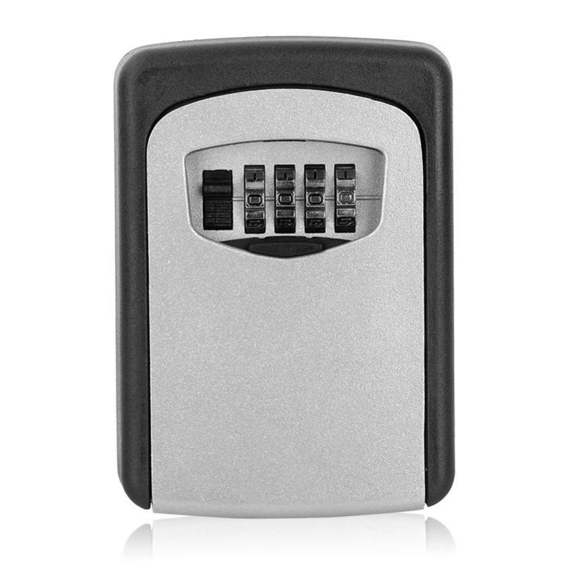Key Storage Box Digit Wall Mount Combination Lock Four Password Keys Safe Box Aluminum Alloy Material Security Organizer Boxes