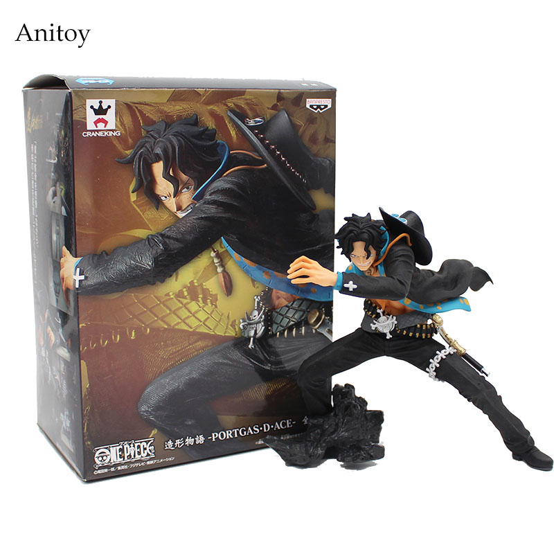 Anime One Piece CRANEKING Portgas D Ace PVC Figure Collectible Model Toy Brinquedos 13cm KT4153