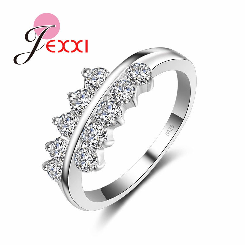 YAAMELI Новая мода 925 Серебряные ювелирные изделия аксессуар кольцо Лидер продаж женщина best Подарки Обещание Кольцо для свадьбы/Обручение