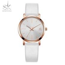 Shengke пару часов Для мужчин кожаный ремень Кварцевые наручные часы Lover часы модные часы для Для женщин как подарок Relogio Masculino