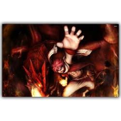 Сказочный хвост плакат популярный классический японский аниме домашний декор Шелковый плакат картина Печать Настенный декор 30x48 см 50x80 см