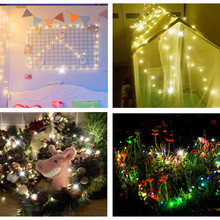 waterproof copper wire fairy garland home christmas wedding party decoration led string light 10m 5m 3m 2m powered by battery LED String lights 10M 5M 4M Silver Wire Garland Home Christmas Wedding Party Decoration Powered by 4.5V Battery Fairy light