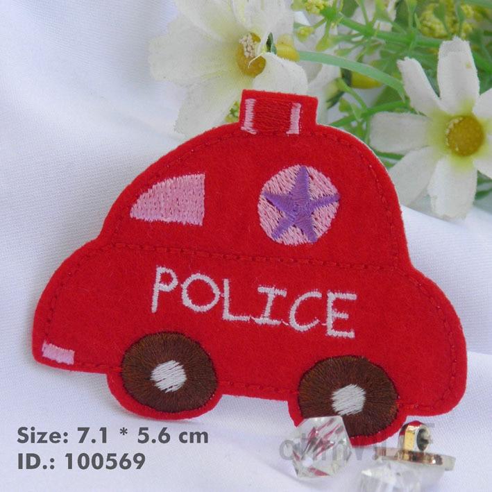 """100569 красный полицейская машина для горячего патчи """" легко наносится, Просто для горячего- """" гарантировано"""