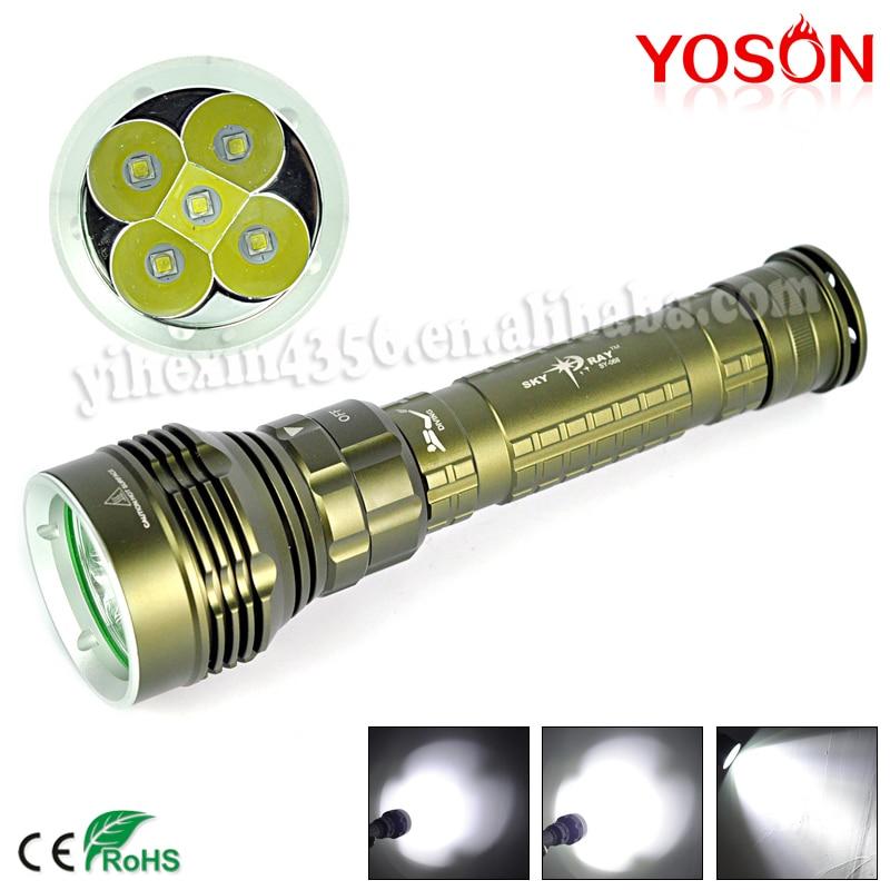 ФОТО 50W Lampe de Poche 9000Lm 5X LED Diving Flashlight  Diver Head Torch Flash Light Lamp XML L2  Lantern By 26650/18650 ,150M Deep