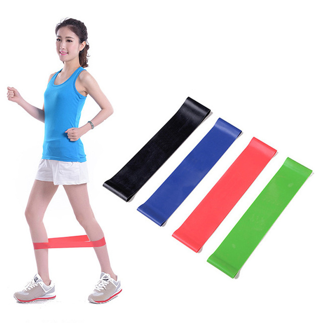 4PCS/Set Elastic Resistance Bands | Workout Rubber Loop For Fitness Gym