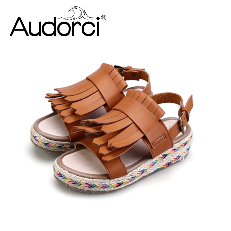 Audorci 2018 Women Casual Sandals Fashion Sweet Summer Woman Beach Slippers Flat Sandals Ladies Shoes Size 34-43 capputine new summer sandals woman shoes 2017 fashion african casual sandals for ladies free shipping size 37 43 abs1115