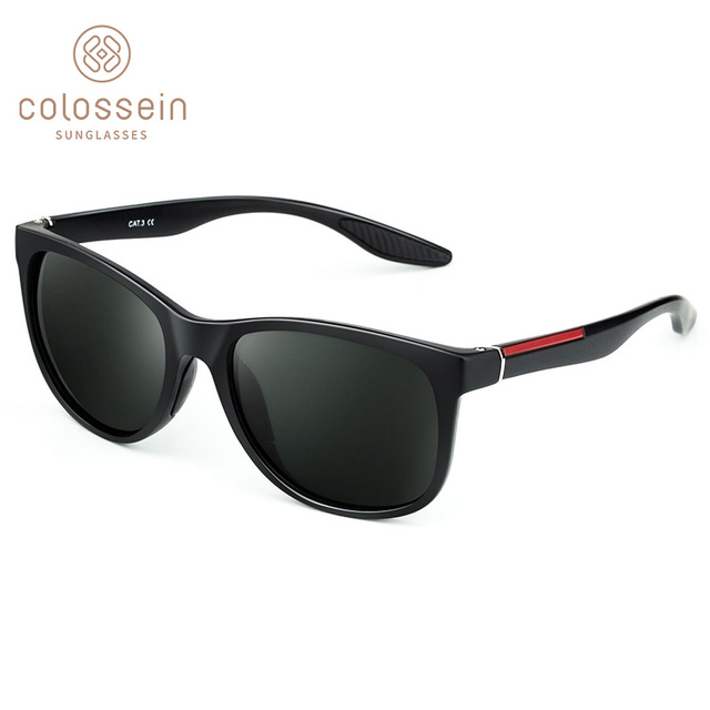 COLOSSEIN משקפי שמש גברים מקוטב קלאסי אור בציר כיכר יוקרה שמש משקפיים lentes Gafas דה סול para hombre