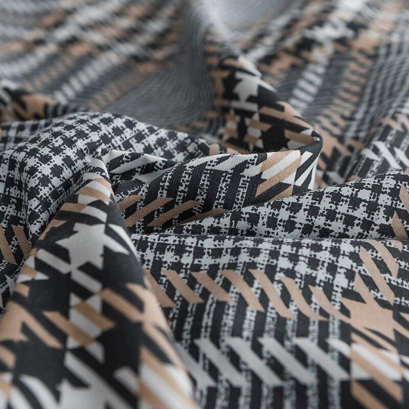 Schwarz grau plaid Bettwäsche Sets 100% baumwolle Bettwäsche Bettwäsche Bettlaken/ausgestattet blatt Kissenbezug/bett Sets königin könig größe 4 stücke - 5