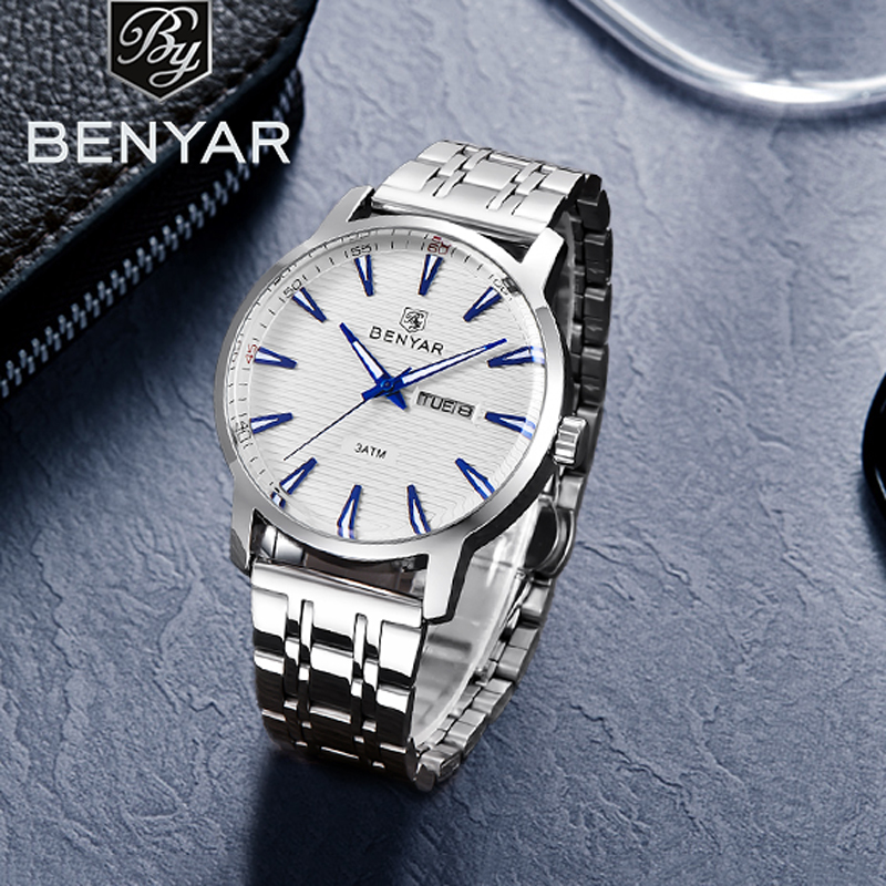 Wrist Watch Men BENYAR Men's Watches Quartz Top Brand Luxury Male Watches Chronograph Military Watch Fashion Relogio Masculino