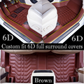 2017 Custon fit 6D longest widest Full surround covers car floor mats for Discovery 3 Discovery 4 Range Rover Range Rover Sport