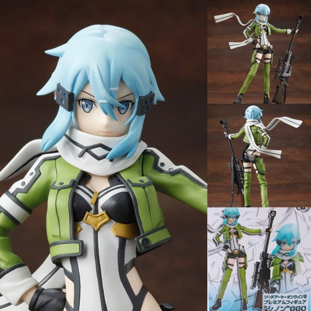 Anime Sword Art Online II Gun Gale Online Asada Shino Figure Toys     Anime Sword Art Online II Gun Gale Online Asada Shino Figure Toys PVC  Action Figure Collectible