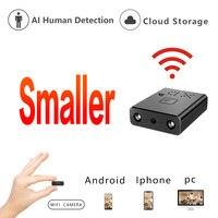 HD Mini Wifi Camera IR Cut Cloud Storage IP/AP Camera AI Human Detection Camera Remote Alarm Camcorder Max Support 128G