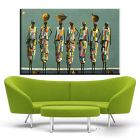 Xh2293 African People And Portraits Expressionist Paintings Modern Canvas Wall Art Prints For Living Room Decoration