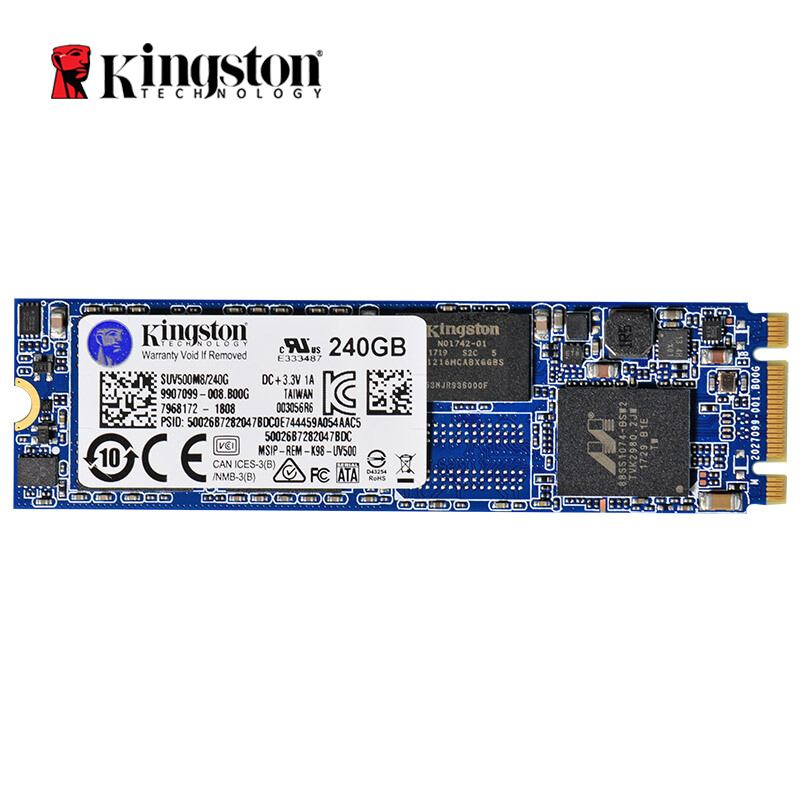 Kingston Technology UV500 SSD disque SSD interne M.2 240 GB 520 mo/s SATA 3 M2 disque dur HDD HD SSD pour ordinateur portable de bureau