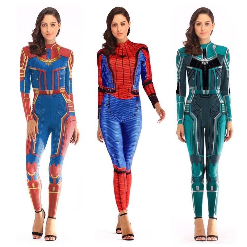 Venom Spider Women Cosplay Costume Christmas Carnival Superhero Costumes Women Fancy Dress  Spider-Man Cosplay Skull Costumes
