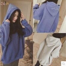 GDA.2016 Autumn And Winter Large Size Women Loose Sweatshirt Plus Size Velvet Ladies Hooded S