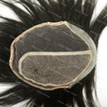 Toupee Hair Clips Men Replacement Systems Swiss Lace With Pu 110% Density Silk Base H007 Stock