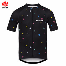 AOSTER Bike Team Men Racing Cycling Jersey Tops Shirt Short Sleeve Bicycle Clothes quick dry Clothing Ropa Ciclismo