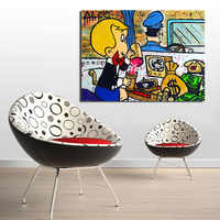 WANG ART Alec Monopoly Driver Idea Oil Painting Canvas Art Paintings For Living Room Wall No