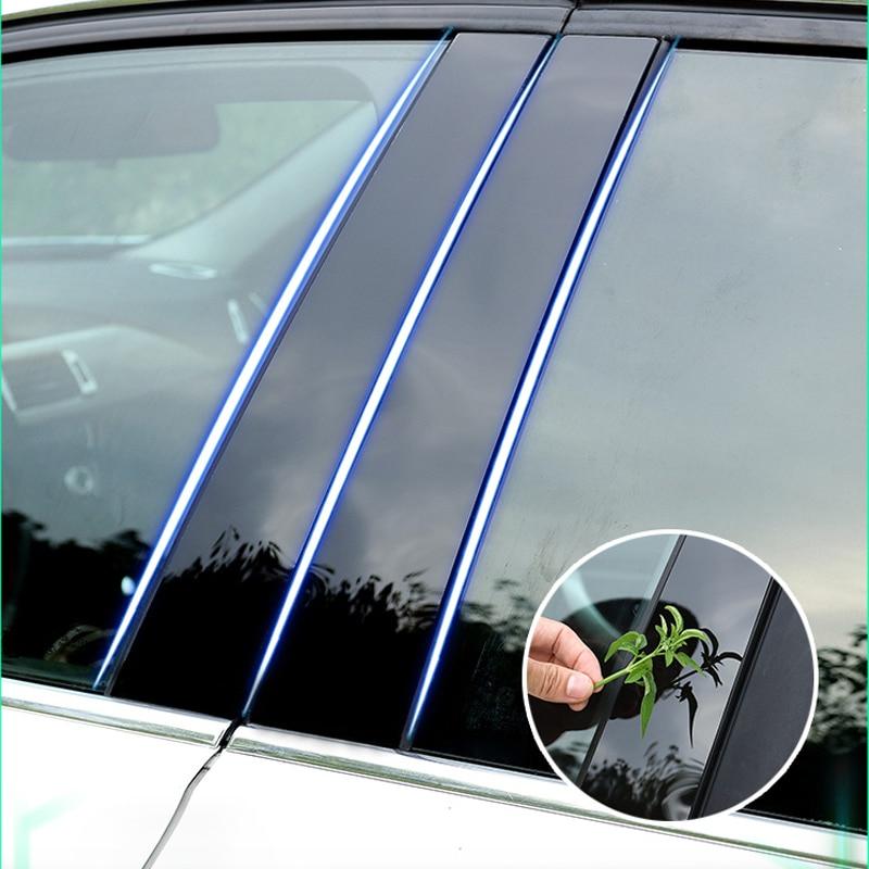 2013 Bmw X6 Interior: Lsrtw2017 Black Pc Car Middle Post Sticker Trims For Bmw