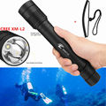 100m Underwater Diving Flashlight XM-L2 L2 6000LM LED diving Torch 5 Modes Waterproof 18650 Tactical Flash light lamp