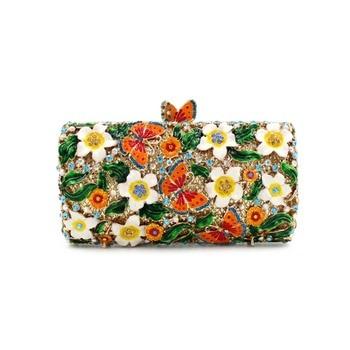 BL025 Luxury diamante evening bags octagon colorful clutch bags women party purse bags crystal sacoche pochette handbags
