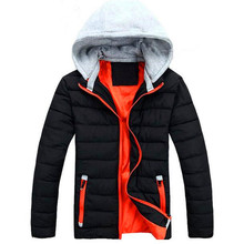 Free Shipping 2017 Men's Winter Cotton Jacket Hooded Casual Thick Warm Clothing Solid Padded Thermal Parkas fashion Coats