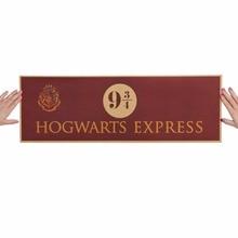 Nuevo Hogwarts Express 9 y 3/4 dibujos de diseño nostálgico papel Kraft clásico cartel decoración garaje pared decoración arte pegatina