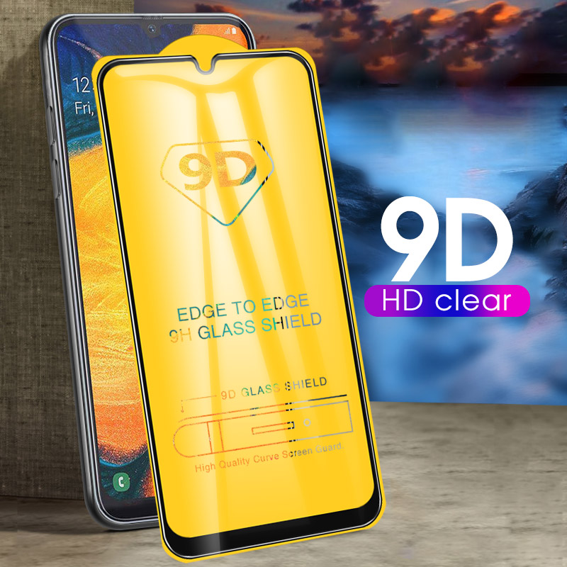 9D Full Cover Tempered Glass For <font><b>Samsung</b></font> Galaxy A50 A30 A20 A10 A70 A40 A7 <font><b>750</b></font> <font><b>2018</b></font> Screen Protector Glass Curved Toughened Film image