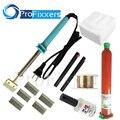 Nova marca 7 em 1 UV glue Optical Limpar Adesiva dispergator + ferro de solda Hot Lâmina Decal Removedor de cola LCD tela de toque reparação