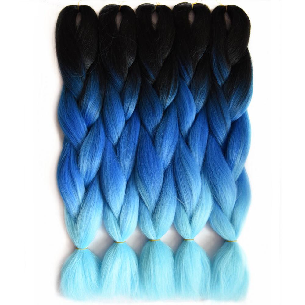 ombre blue braiding hair_ (2)