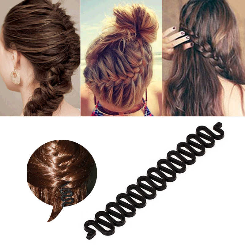 Lady Fashion Hair Clip Stick Braid Tool Long Headpiece Elegnat Decor
