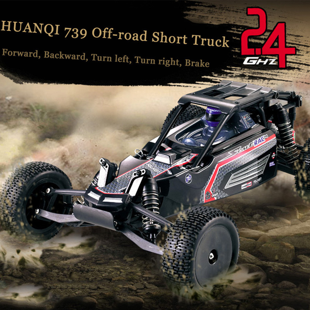 HUANQI High Speed RC Cars 1:10 Scale 2.4G 2WD 42km/h Rechargeable Remote Control Short Truck Off-road Car RTR Vehicle Toy 2016 hsp rc car toy 1 8 scale brushless electric car 4wd rtr off road remote control rc car jeep truck high speed item no 94067