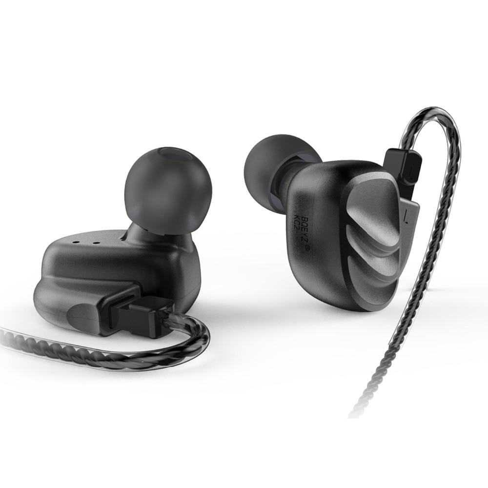 BQEYZ KC2 2BA + 2DD Híbrido Em fones de Ouvido Fones De Ouvido Fone de Ouvido de ALTA FIDELIDADE de Graves DJ Monito Execução Esporte Earbud Fone de Ouvido fone de Ouvido Earplug fone de ouvido com Microfone