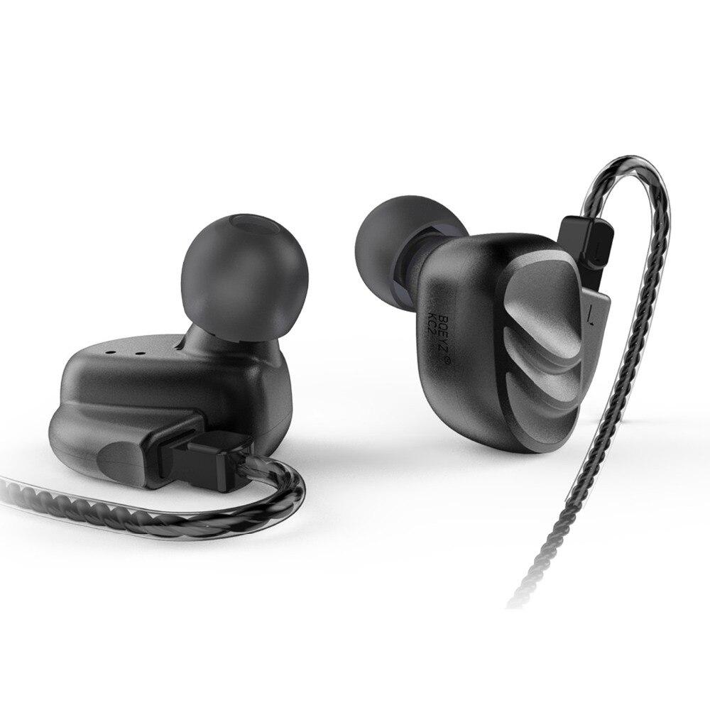 BQEYZ KC2 2BA + 2DD Hybride Dans L'oreille Écouteurs Intra-auriculaires hi-fi basses DJ Monito de Course écouteurs de sport Boules Quies Casque écouteurs avec micro