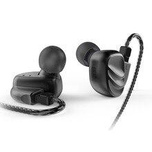 BQEYZ KC2 2BA + 2DD hibrid kulak kulaklık kulaklık HIFI bas DJ Monito koşu spor kulaklık kulak tıkacı kulaklık kulaklık mic ile