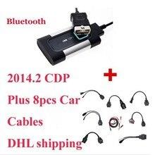 2017 Fábrica, OBD 2 Cable Para Autocom CDP Pro Coches Cables, hardware, conjunto integro de cables, soporte Bluetooth envío libre de dhl