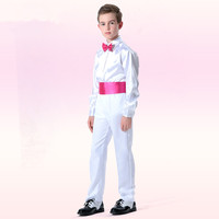 Christmas Party Boys Compere Suit Students Chorus Uniform Halloween Kids Belted Prince Costume Children First Date Clothing