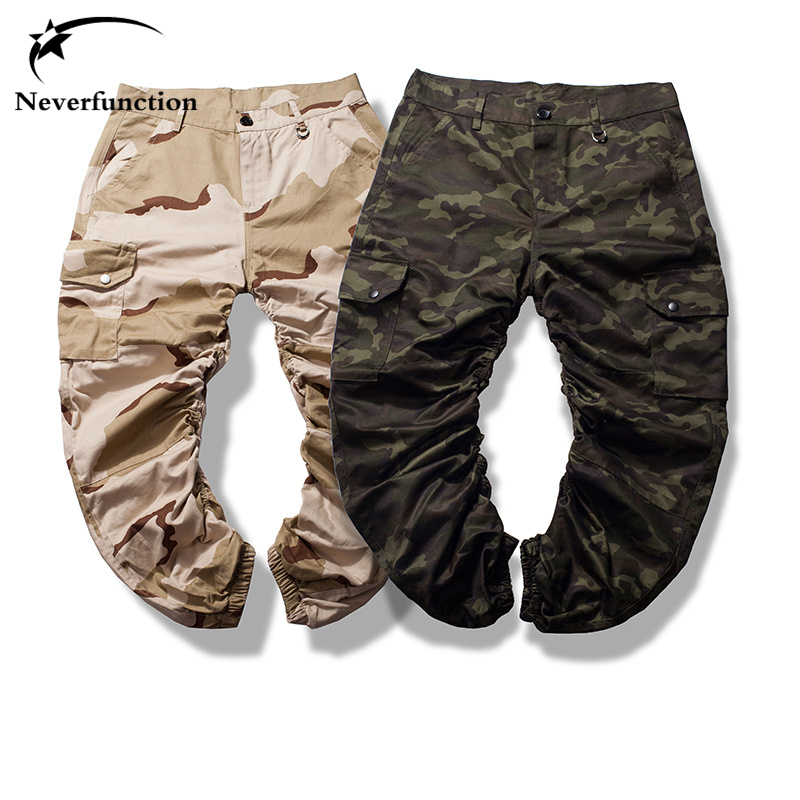 2017 Camouflage Gelb Schnell Trocken Männer Hosen Ganzkörperansicht Mentrousers High Street Tragen Cool Man Mode Hip Hop Jogger Cargo Hosen