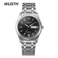 WLISTH Hommes Montres Top Marque De Luxe Jour Date En Acier Inoxydable Lumineux Heure Horloge Mâle Casual Quartz Montre Hommes Sport Montre-Bracelet