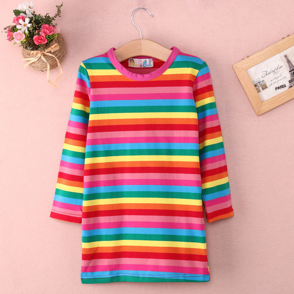 aliexpress buy 2 7years rainbow striped