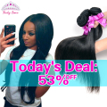 Peruvian Virgin Hair Straight 4 Bundles Peruvian Straight Human Hair Weave Bundles 100% Virgin Hair Lucky Queen Hair Products