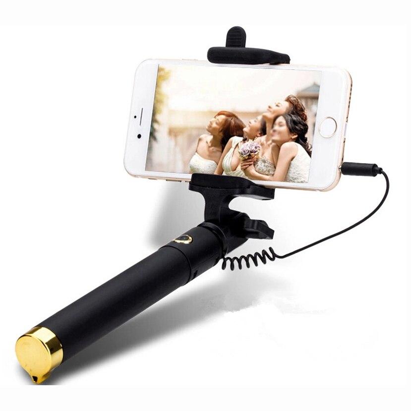 Universal for Xiaomi Redmi Pro 6 5 4 3s 4x 2 Note Hongmi  Luxury mini Selfie Stick Monopod Wired Palo Selfie Groove Camera Taker