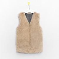 new Arrival Women Coat Fur Vest Thick Warm Faux Coat Women High Grade Fashion V Neck Long Female Jackets Cardigan Plus Size
