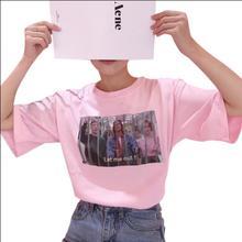 2017 корейский ulzzang Harajuku шикарный стиль цифровая печать фото футболка Женская Повседневная короткий рукав футболки