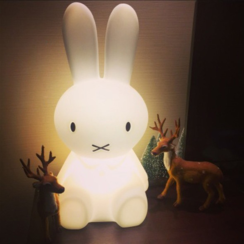Baby Rabbit Lamp Bed Room Toy Anti-fall Waterproof Environmental Bear Lovely Light Children Christmas gift  Electricity Charged tomas stern 30 см 4003s