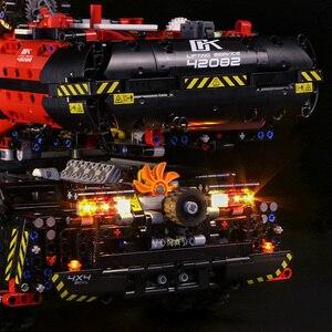 Image 5 - Led ライトのための機械式グループ 42082 のための複雑な地形クレーンテクニックシリーズ少年少女ビルディングブロックおもちゃ (光のみ)